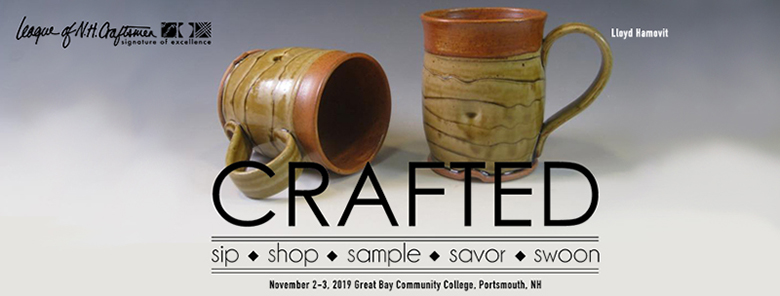 A pair of mugs by Lloyd Hamovit, Master Ceramic Artist.